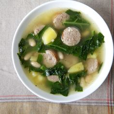 Beans and Greens Soup (With a Little Italian Sausage)