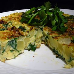 Spinach and Potato Tortilla