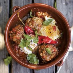 Lamb Meatballs with Yogurt, Eggs, and Mint