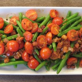 Warm Salad with Cherry Tomato,Haricot Vert and Pancetta