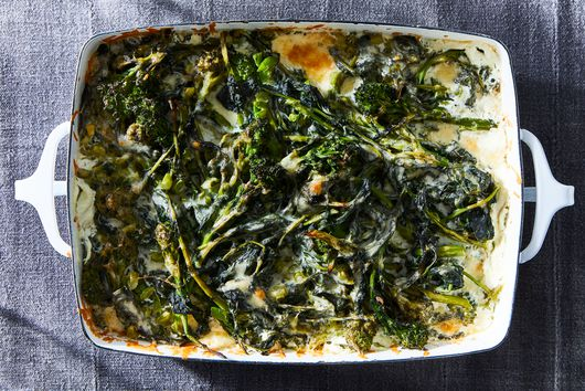 A Cheesy, Creamy Broccoli Rabe Gratin in 3 Ingredients