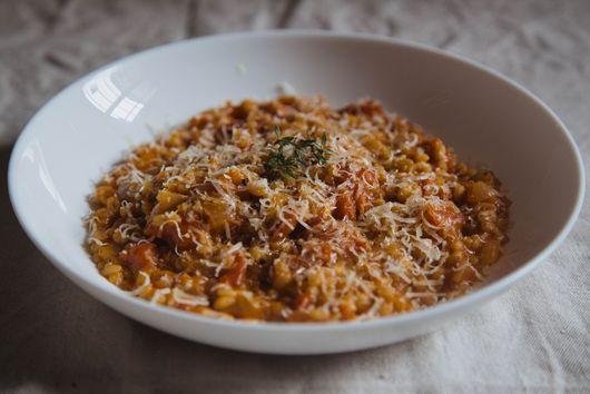 Tomato Pearl Barley Risotto