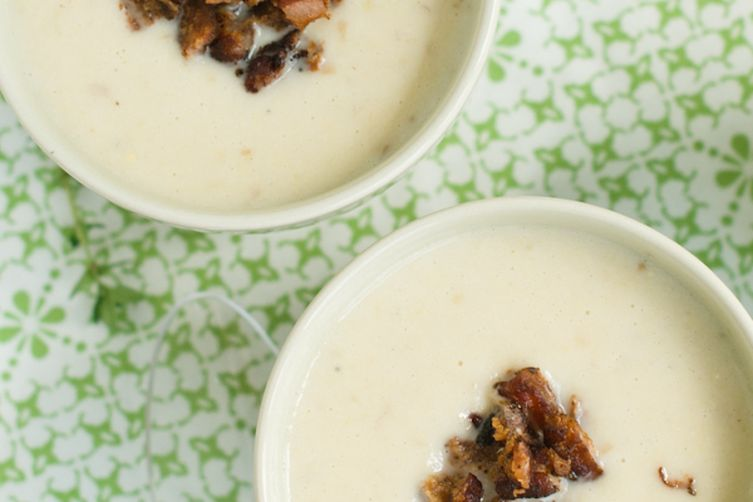 Smoked Corn Chowder with Crispy Duck Skin