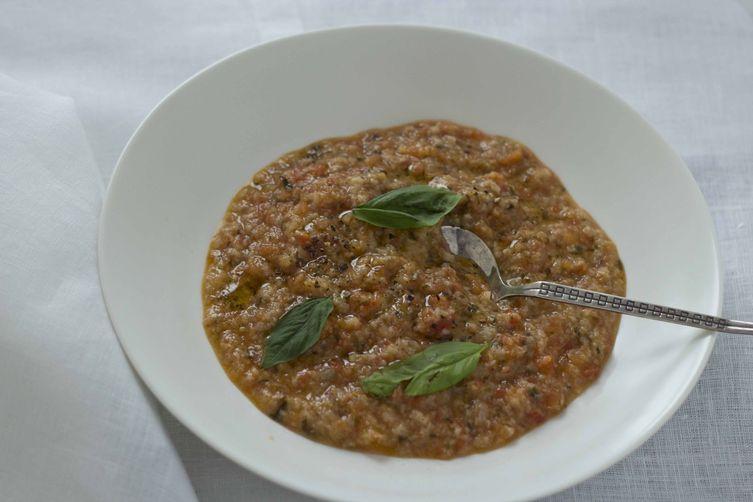 Tomato and bread soup (pappa col pomodoro) - Toscana, Primo (First course)