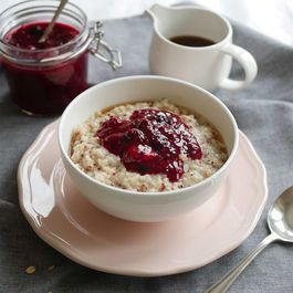 Coconut Quinoa Porridge with Berry Compote