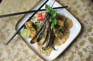 End-of-Summer Vegetables Roasted Thai-Style with Tofu