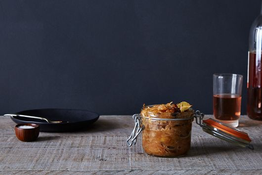 Caramelized Sauerkraut With Prunes, Herbs & Honey