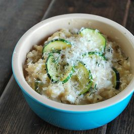goat cheese & summer squash risotto