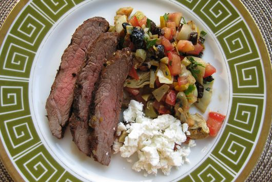 Kasbah Flank with Grilled Salsa