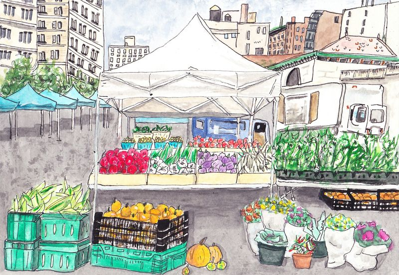 The Union Square Greenmarket is the largest market in New York City.