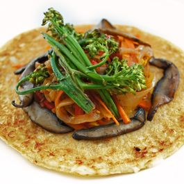 Lentil Crepe with Roasted Veggies