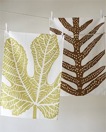 Fig and Fern Tea Towel