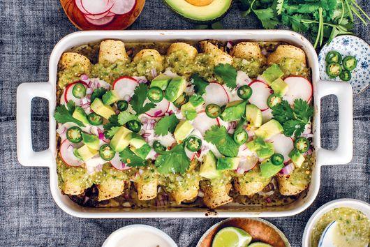Zucchini Verde Vegan Enchiladas