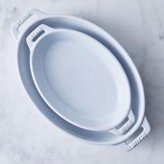 Staub Ceramic 2-Piece Nested Oval Baking Set