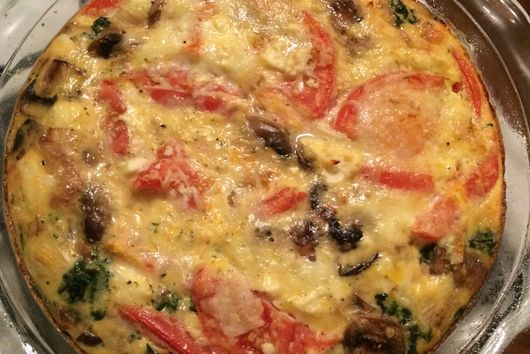Spinach, Tomato, and Mushroom Quiche