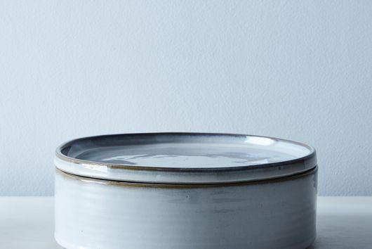 Rustic Tin-Glazed Lidded Bowls