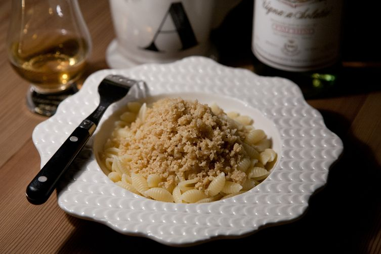 Cavatelli with Asiago Oat Crumbs