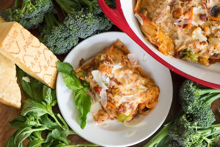 Whole Wheat Lasagna with Roasted Vegetables and Grana Padano