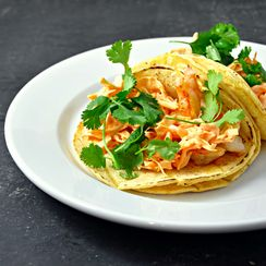 Shrimp Tacos with Spicy Sriracha Slaw