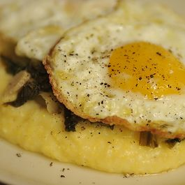 Polenta (Again!) with Wilted Escarole and Olive Oil Fried Eggs
