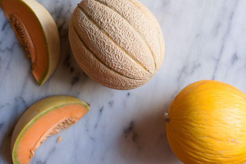 Cantaloupe and canary melons.