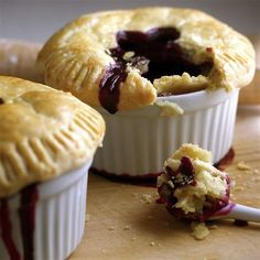 Mini Lemon-Blueberry Pies