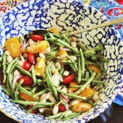 Summery Bean Salad with Preserved Lemon Vinaigrette