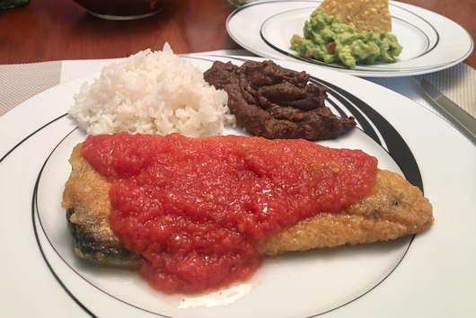 Chiles Rellenos / Stuffed Chilies