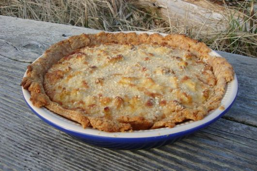 Chard, Cauliflower and Caramelized Onion in Cheese Crust
