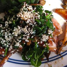 Soy-Glazed Salmon with Pea Shoots