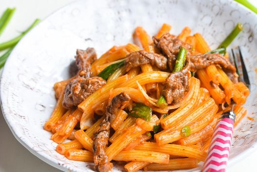 Stir-fried Beef Macaroni