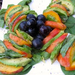 Peach-Avocado Salad with Basil