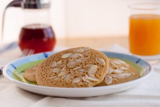 Cornmeal Almond Pancakes