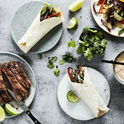 Skyr-Marinated Flank Steak Fajitas
