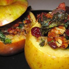 Savory Stuffed Baked Apples