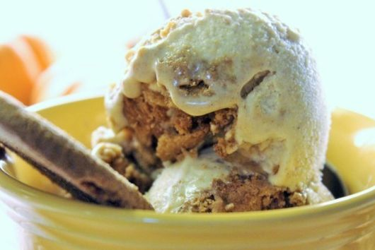 No Churn Bourbon & Pumpkin Ginger Spice Ice Cream