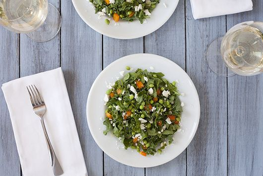 Sweet Pea & Kale Salad with Lemon Mint Vinaigrette
