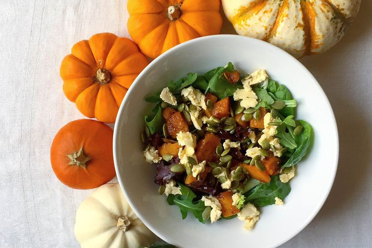 Fall Squash Salad with Maple White Wine Vinaigrette