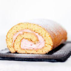 Strawberries 'n' Cream Cake Roll