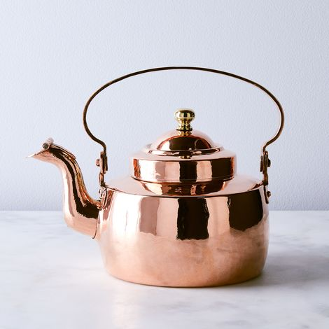 Vintage Copper Georgian Tea Kettle With Makers Mark, Mid 19th Century
