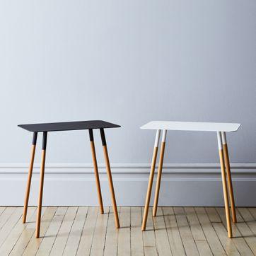 Steel Wood Rectangular Side Table On Food52 - Small Black Metal Rectangle Side Table
