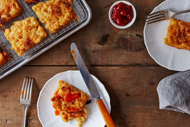 Chicken-Fried Macaroni and Cheese