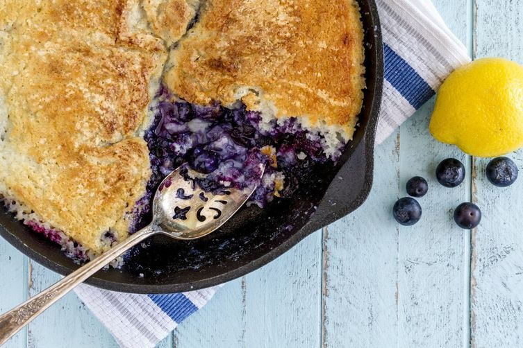Cardamom Blueberry Cobbler