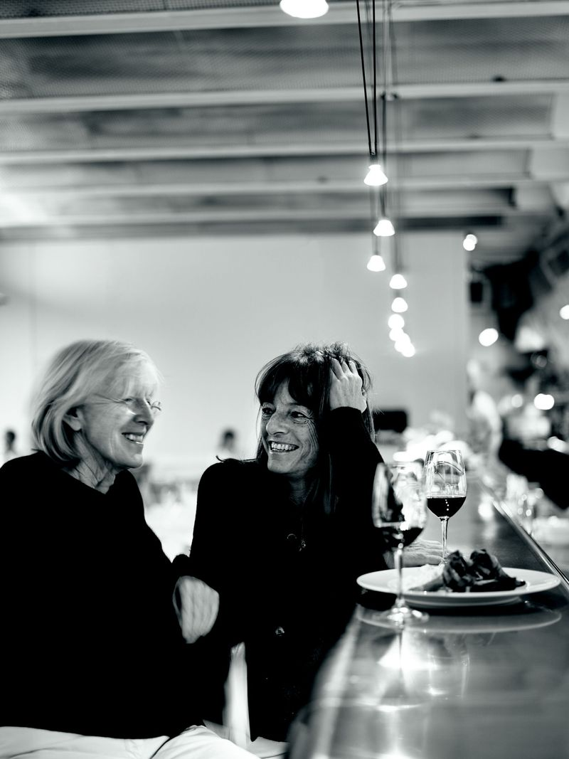 The River Café's two founders: the late Rose Gray (left) and Ruth Rogers (right).