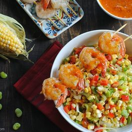 F83deb3d a847 405d 881d fffbd3476343  succotash with spicy chipotle mango shrimp