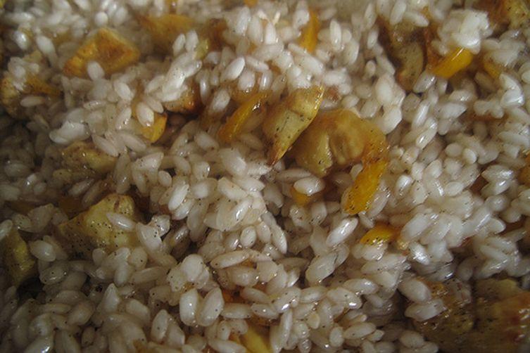 Kumquat and Chestnut Rice Pudding Tart