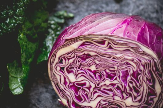 Kale and Red Cabbage Salad with Toasted Sunflower Seeds and Lime Vinagrette