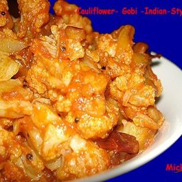 Cauliflower - Gobi- Indian Style