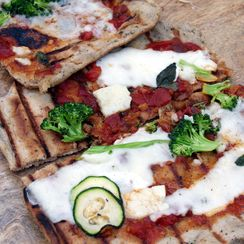 Neglected Starter Sourdough Pizza Crust/Skillet Flatbread/Grillbread