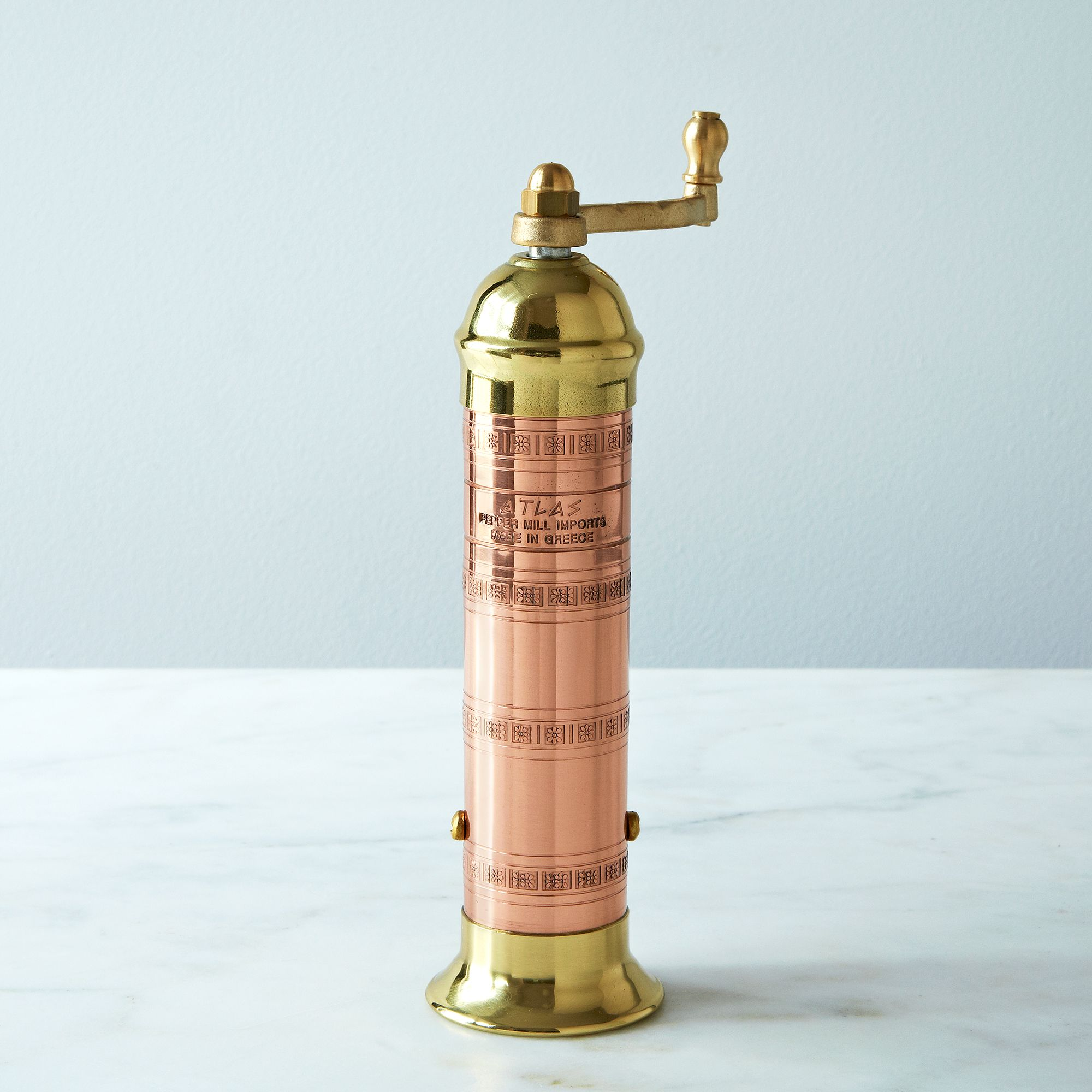 copper and brass pepper mill on food52